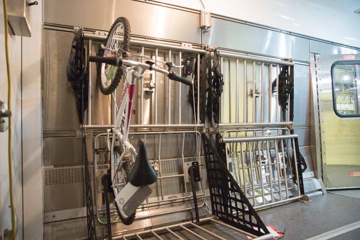Our new baggage cars allow for roll on bike storage. No more bike boxes!