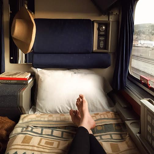 A cozy roomette or bedroom on your own cross country #AmtrakAdventure.
