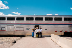 Amtrak Wedding Couple