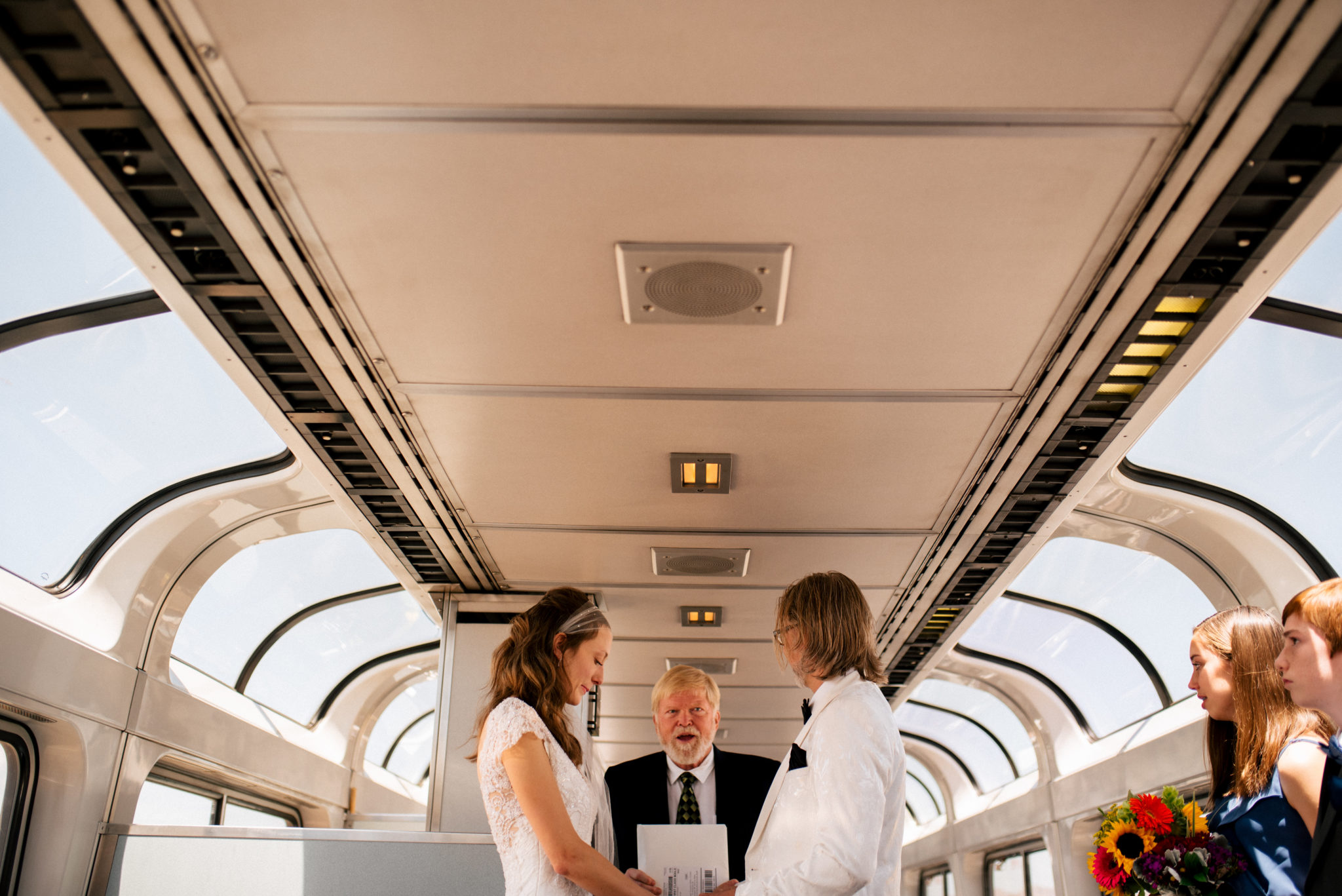 Amtrak Wedding Ceremony